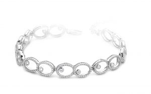 Silver Rose Armband - BR2043W