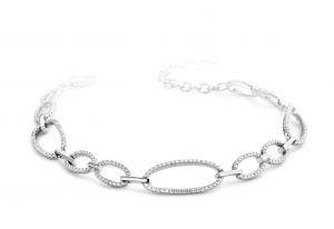 Silver Rose Armband - BR2100W