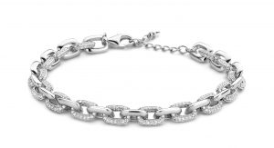 Silver Rose Armband - BR2111W