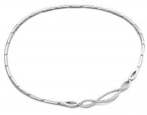 Silver Rose Halsketting - CH2101W