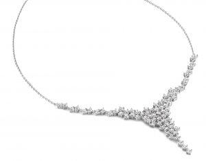 Silver Rose Halsketting - CH2107W