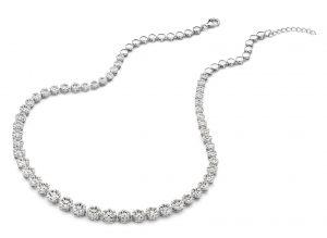 Silver Rose Halsketting - CH6424W