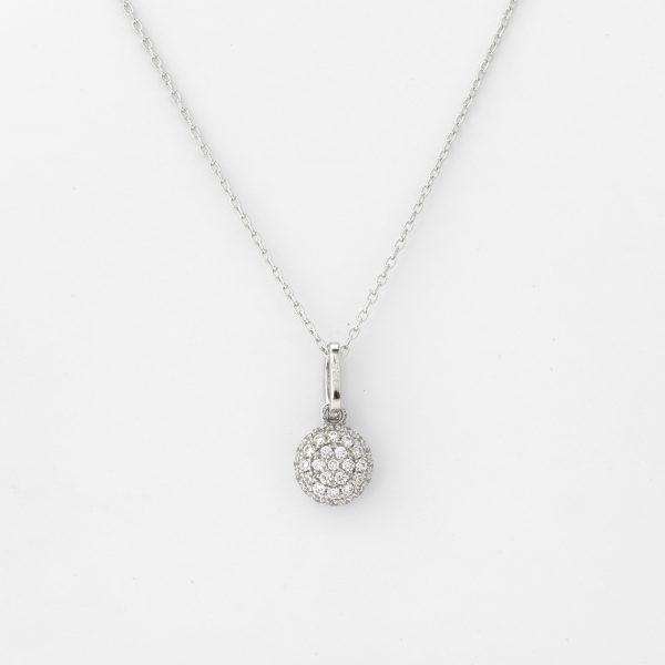 Halsketting Verona 18kt goud - 42 diamanten door Jo Juwelen