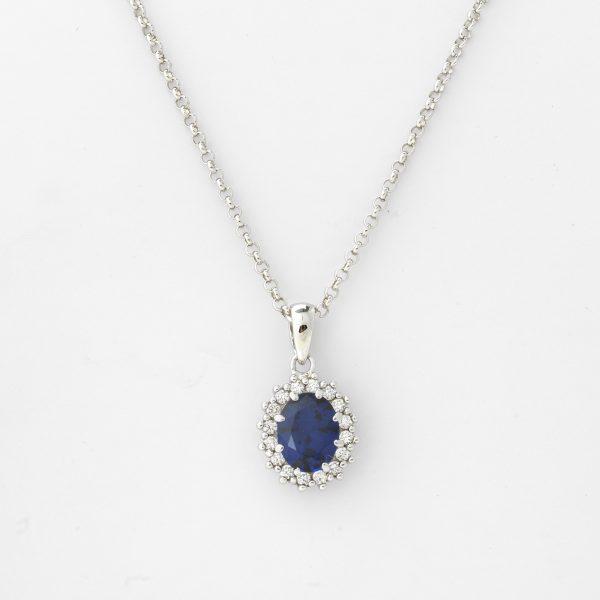 Halsketting Nancy 18kt goud - 16 diamanten door Jo Juwelen