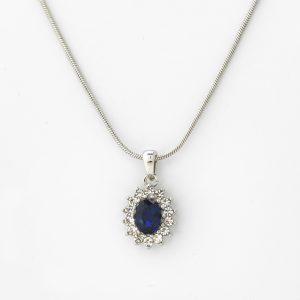 Halsketting Roanne 18kt goud - 12 diamanten door Jo Juwelen