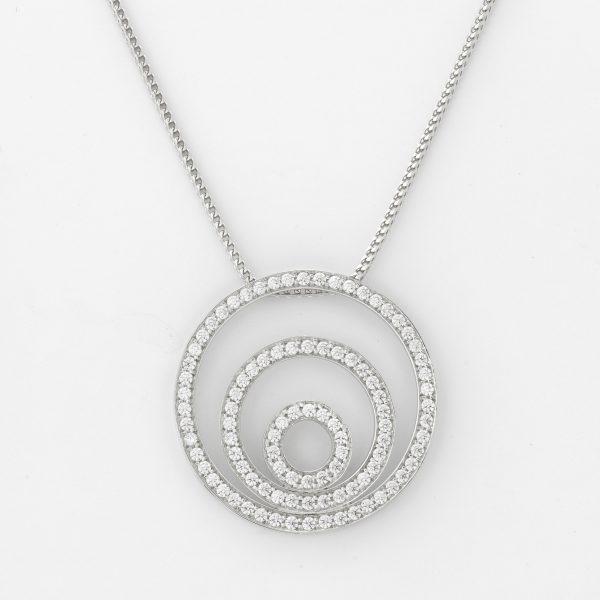 Halsketting Dakar 18kt goud 96 diamanten door Jo Juwelen