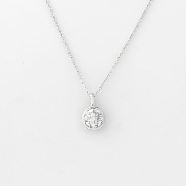 Halsketting Zafra 18kt goud - 1 diamant door Jo Juwelen