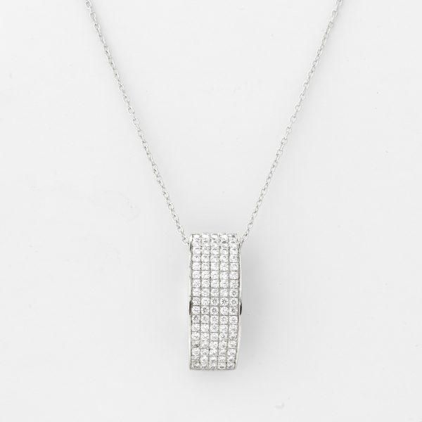 Halsketting Napels 18kt goud - 85 diamanten door Jo Juwelen