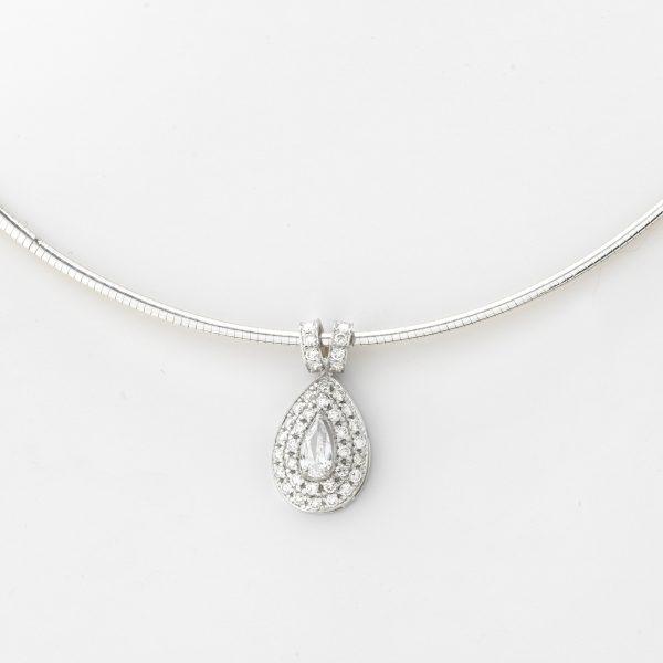 Halsketting Palermo 18kt goud - 41 diamanten door Jo Juwelen