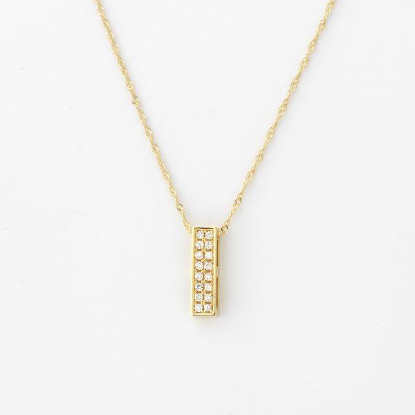 Halsketting Rimini 18kt goud - 16 diamanten door Jo Juwelen