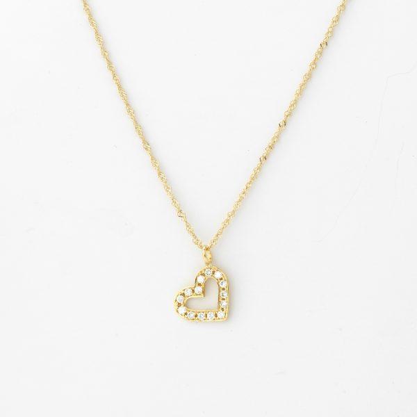 Halsketting Arezzo 18kt goud - 14 diamanten door Jo Juwelen