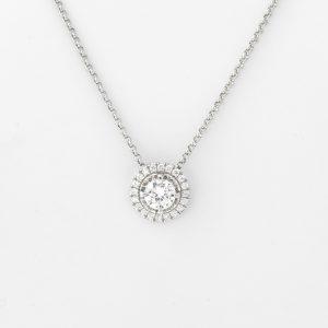 Halsketting Modena 18kt goud - 21 diamanten door Jo Juwelen