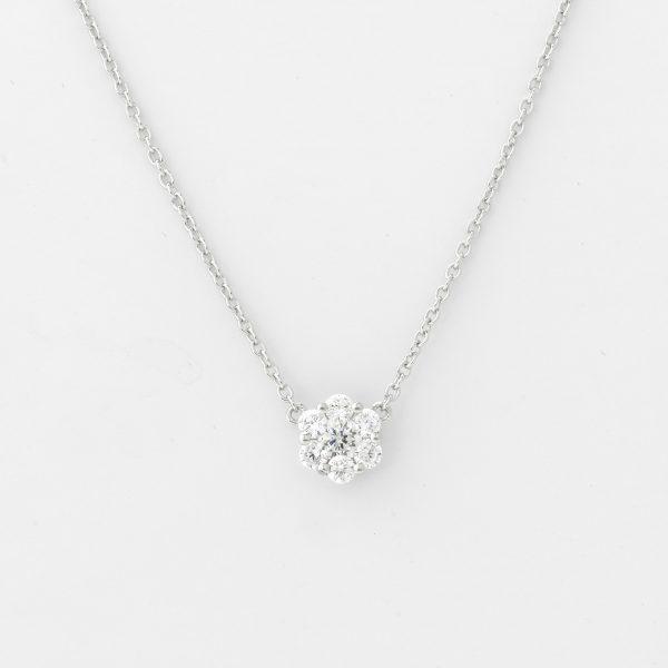 Halsketting Parma 18kt goud - 7 diamanten door Jo Juwelen